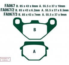 Klocki hamulcowe EBC FA067TT (kpl. na 1 tarcze)