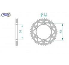 AFAM Zębatka tylna aluminiowa do łańcucha 520 S/C