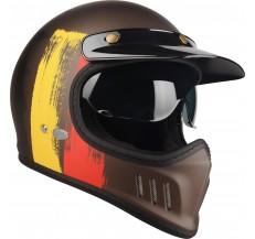 Kask Motocyklowy LAZER Cross TT Belgium (kol. Czarny - Czerwony - Żółty Matowy) rozm. XL