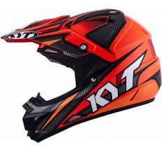 Kask Motocyklowy KYT CROSS OVER POWER czarny / czerwony - 2XL