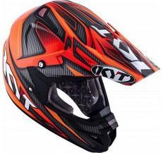 Kask Motocyklowy KYT CROSS OVER POWER czarny / czerwony - XS