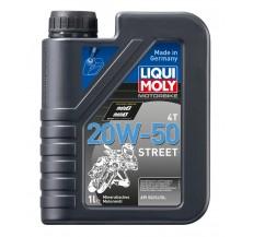 LIQUI MOLY Olej silnikowy mineralny do motocykli 20W50 Street 1 litr