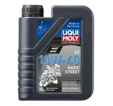 LIQUI MOLY Olej silnikowy mineralny do motocykli 10W40 Basic Street 1 litr