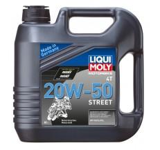 LIQUI MOLY Olej silnikowy mineralny do motocykli 20W50 Street 4 litry