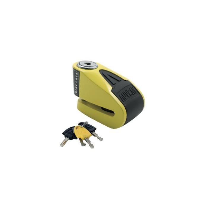 AUVRAY blokada na tarczę z alarmem  B-LOCK 06 - żółto-czarna, średnica bolca 6mm
