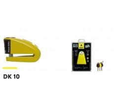 AUVRAY blokada na tarczę  DK10  - żółta, średnica bolca 10mm  (klasa S.R.A.)