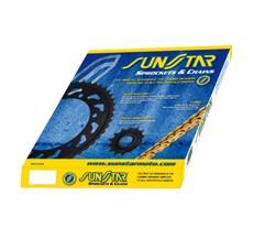 ORYGINALNY ZESTAW NAPĘDOWY SUNSTAR  SUZUKI SUZUKI DL 650 V-STROM 07-12/ ABS 07-20/ XT15-20 STANDARD